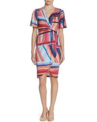 Catherine Malandrino - Nyla Striped Twist-front Dress - Lyst