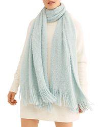 Free People Whisper Fringe Blanket Scarf - Blue