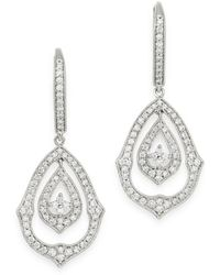 Bloomingdale's Diamond Vintage Look Drop Earrings In 14k White Gold