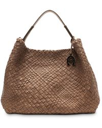 Etienne Aigner Eitenne Aigner Irena Woven Leather Hobo - Brown