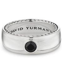 David Yurman - Streamline Band Ring With Black Diamonds - Lyst
