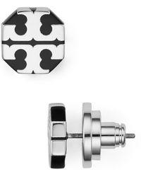Tory Burch - T-stretch Logo Stud Earrings - Lyst