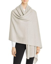 C By Bloomingdale's Cashmere Travel Wrap - Gray