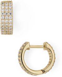 Nadri - Aura Triple-row Huggie Hoop Earrings - Lyst