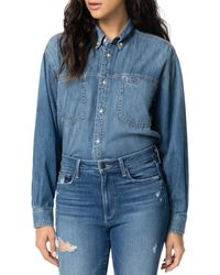 Joe's Jeans Button - Down Denim Shirt - Blue