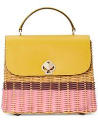 Kate Spade Romy Medium Wicker Top-handle Bag - Yellow