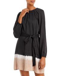 Bella Dahl Gathered Mini Dress - Black