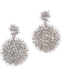 Suzanne Kalan 18k White Gold Fireworks Diamond Drop Earrings