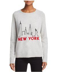 Aqua - New York Skyline Cashmere Sweater - Lyst