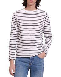 Sandro Boat Cotton Stripe Long Sleeve Tee - Multicolor