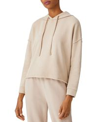 Eileen Fisher Cropped Boxy Cotton Hoodie - Natural