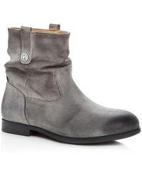 Birkenstock Women's Sarnia Nubuck Leather Slouchy Booties - Grey