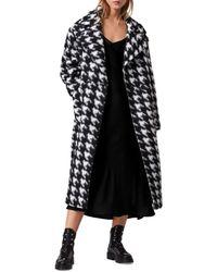 AllSaints Eda Houndstooth Coat - Black