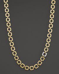 Roberto Coin - 18k Yellow And White Gold Mini Diamond Pois Moi Collar Necklace - Lyst