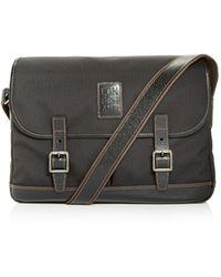 Longchamp Boxford Medium Canvas Briefcase - Black