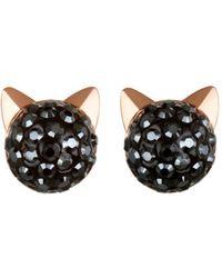 Karl Lagerfeld Crystal Choupette Earrings - Multicolour