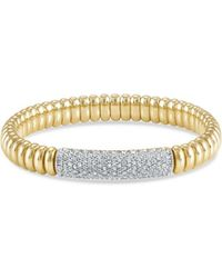 Hulchi Belluni | 18k Yellow Gold Tresore Pavé Diamond Bracelet | Lyst
