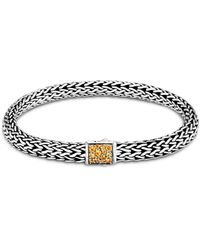 John Hardy Sterling Silver Classic Chain Black Sapphire & Citrine Reversible Bracelet - Metallic