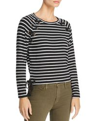 Generation Love - Kath Lace-up Striped Tee - Lyst