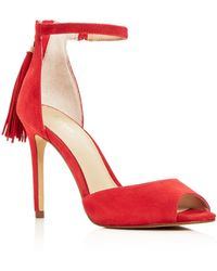 Botkier Women's Anna Suede Ankle Strap High-heel Sandals - Red