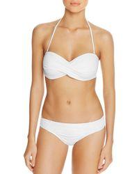 Tommy Bahama Pearl Twist Bandeau Bikini Top - White