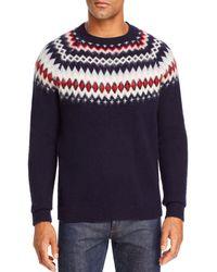 Bloomingdale's Merino Wool Fair Isle Sweater - Blue