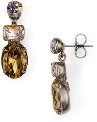 Sorrelli - Tri-stone Post Earrings - Lyst