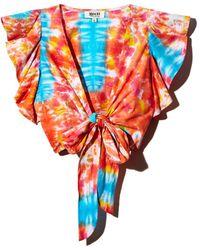 All Things Mochi - Lana Tie-dye Wrap Top - Lyst
