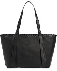 AllSaints Women's Kepi Small East West Leather Tote Bag - Black