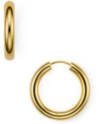 Argento Vivo - Seamless Medium Hinge Hoop Earrings - Lyst
