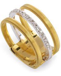 Marco Bicego - 18k Yellow & White Gold Goa Ring With Diamonds - Lyst