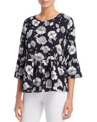 Status By Chenault - Floral Bell - Sleeve Top - Lyst