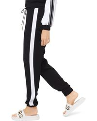 MICHAEL Michael Kors Contrast Stripe Jogger Pants - Black