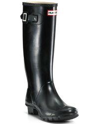 HUNTER Huntress Extended Calf Rain Boots - Black