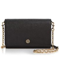 Tory Burch - Robinson Leather Chain Wallet - Lyst
