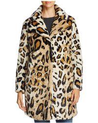 Cupcakes And Cashmere - Abeni Leopard Print Faux Fur Coat - Lyst