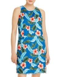 Tommy Bahama Hibiscus Isle Linen Shift Dress - Blue