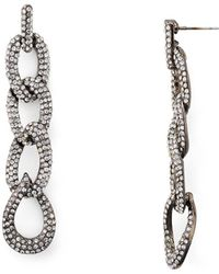 Aqua - Linked Drop Earrings - Lyst