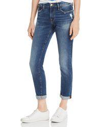 FRAME Le Garcon Slim Boyfriend Jeans In Azure - Blue