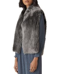 Whistles Reversible Shearling Vest - Grey