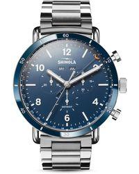 Shinola Men's 45mm Canfield Sport Bracelet Watch - Blue