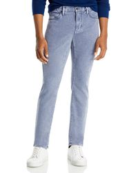John Varvatos Bowery Slim Straight Jeans In Dusted Blue