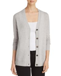 C By Bloomingdale's Cashmere Grandfather Cardigan - Gray