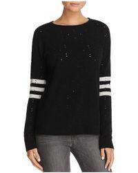 Aqua | Distressed Striped Sweater | Lyst