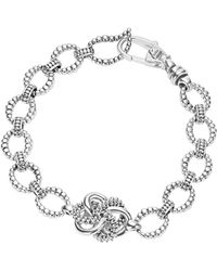 c6aa27abf1b66 Gucci Gold Finished Sterling Silver Knot Bracelet in Metallic - Lyst