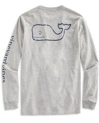 Vineyard Vines Garment Dyed Vintage Whale Tee - Grey