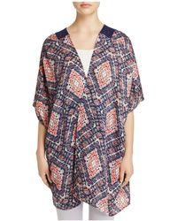 Roffe Accessories - Printed Woven Back Kimono - Lyst