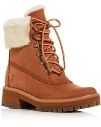 Timberland - Women's Courmayeur Valley Shearling Waterproof Cold - Weather Boots - Lyst