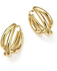Bloomingdale's - Woven Teardrop Hoop Earrings In 14k Yellow Gold - Lyst