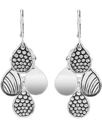 Lagos - Sterling Silver Signature Caviar Four Drop Earrings - Lyst